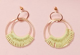 Woven-Bead-Hoop-Earrings on sale