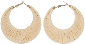 Cresent-Woven-Hoop-Earrings on sale
