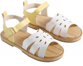 Kids-Sandals-White-Yellow on sale