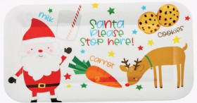 Christmas-Santa-Stop-Here-Plate on sale