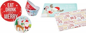 Assorted-Christmas-Plates-Bowls-or-PVC-Placemats on sale