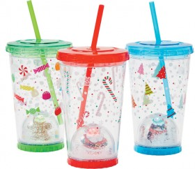 Assorted-Christmas-Tumblers-with-Snow-Dome on sale