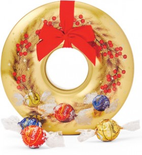 Lindt-Lindor-Wreath-Tin-184g on sale