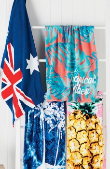 Wave-Zone-Print-Velour-Beach-Towels on sale