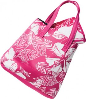 Wave-Zone-Neoprene-Tote-Bag-with-Matching-Velour-Print-Towel-Pink on sale