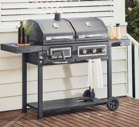 NEW-Contempo-Dual-Fuel-BBQ-with-Side-Burner on sale