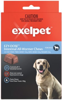 Exelpet-Ezy-Dose-Intestinal-All-Wormer-For-Dogs-4-Pack on sale