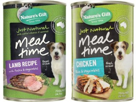 Natures-Gift-Dog-Food-Can-Varieties-700g on sale