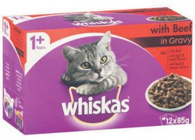 Whiskas-12-Pack-Cat-Food-Pouch-Varieties-85g on sale