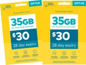 Optus-30-Sim-Pack on sale