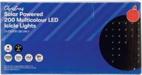 30-off-Christmas-Solar-200-LED-Fairy-or-Icicle-Lights on sale