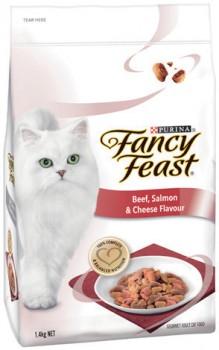 Fancy-Feast-Beef-Salmon-Cheese-Adult-Dry-Cat-Food-1.4kg on sale