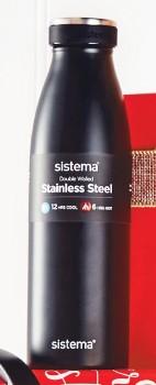 Sistema-Stainless-Steel-Water-Bottle-500ml on sale