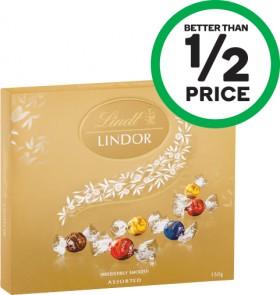 Lindt-Lindor-Gift-Box-150g on sale
