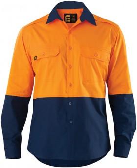 ELEVEN-AEROCOOL-Hi-Vis-Spliced-Ripstop-LS-Shirt on sale