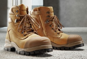 Blundstone-992-Wheat-Zip-Sided-Lace-Up-Safety-Boots-with-TPU-Toe-Guard on sale