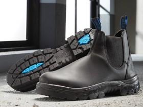 Steel-Blue-Hobart-Black-Elastic-Sided-Safety-Boots on sale