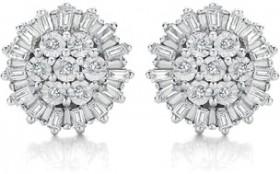 9ct-White-Gold-Diamond-Earrings on sale