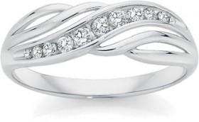 9ct-White-Gold-Diamond-Ring on sale