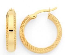 9ct-Gold-on-Sterling-Silver-30mm-Hoop-Earrings on sale