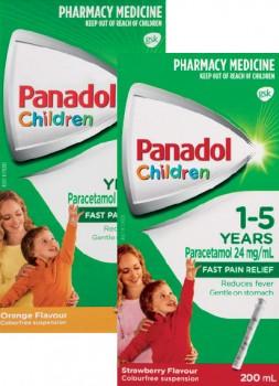 Panadol-Children-1-5-Years-200mL-Range on sale