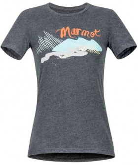 Marmot-Womens-Short-Sleeve-Recycled-Tee-Charcoal on sale