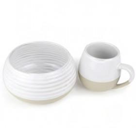 NEW-Morning-Hugs-Mug-Bowl-400ml-1L-13.5oz-33.8oz-Snow on sale