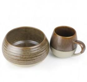 NEW-Morning-Hugs-Mug-Bowl-400ml-1L-13.5oz-33.8oz-Toffee on sale