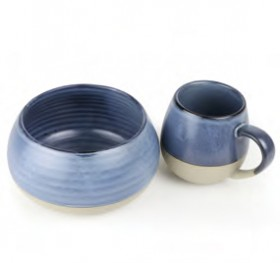 NEW-Morning-Hugs-Mug-Bowl-400ml-1L-13.5oz-33.8oz-Denim on sale