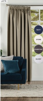 Abbey-Blockout-Pencil-Pleat-Curtains on sale