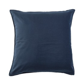 Washed-Linen-Look-Navy-European-Pillowcase-by-Essentials on sale