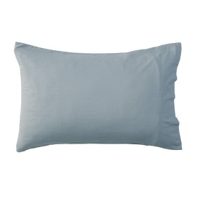 Washed-Linen-Look-Dusty-Blue-Pillowcase-Pair-by-Essentials on sale