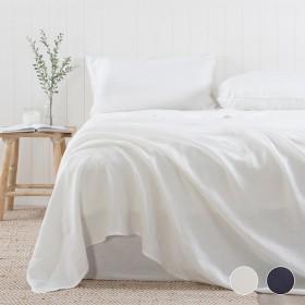 Washed-Linen-Sheet-Set-by-Habitat on sale