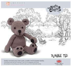 NEW-Knitty-Critters-Tumble-Ted-Pattern on sale