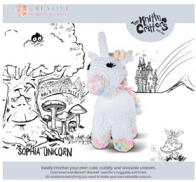 NEW-Knitty-Critters-Sophia-Unicorn-Pattern on sale