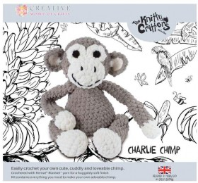NEW-Knitty-Critters-Charlie-Chimp-Pattern on sale
