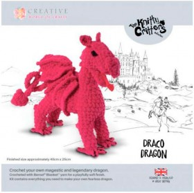 NEW-Knitty-Critters-Draco-Dragon-Pattern on sale