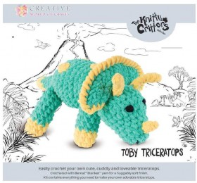 NEW-Knitty-Critters-Toby-Triceratops-Pattern on sale