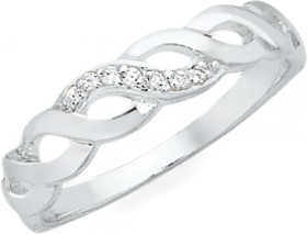 Sterling-Silver-CZ-Loose-Plait-Ring on sale