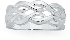 Sterling-Silver-Two-Row-Entwined-Loop-Ring on sale