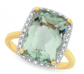 Manhattan-G-Cocktail-Ring-Collection-9ct-Gold-Green-Amethyst-Long-Cushion-Shape-Ring on sale