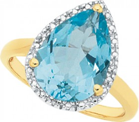 Manhattan-G-Cocktail-Ring-Collection-9ct-Gold-Sky-Blue-Topaz-Pear-Shape-Ring on sale