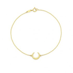 9ct-Gold-19cm-Crescent-Moon-Trace-Bracelet on sale