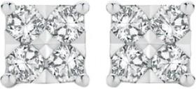 9ct-Gold-Diamond-Square-Shape-Stud-Earrings on sale
