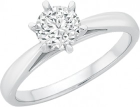 18ct-White-Gold-Diamond-Ring on sale