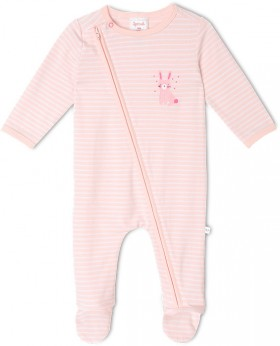 Sprout-Newborn-Coverall-Pink on sale
