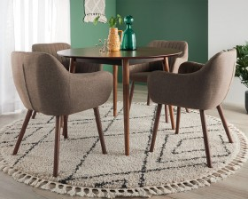 NEW-Tara-5-Piece-Dining-Set-with-Salon-Chairs on sale