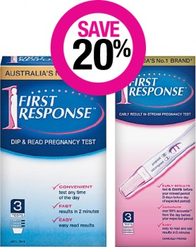 Save-20-on-First-Response-Pregnancy-Test-Kits on sale