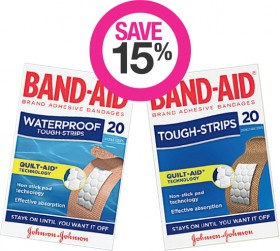 Save-15-on-Selected-Band-Aid-Products on sale