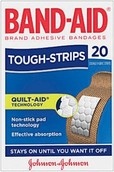 Band-Aid-Tough-Strips-Regular-20-Pack on sale